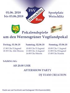 Pokalendspiele komplett – 01.06. – 03.06.2018 Pokalwochenende in Weischlitz