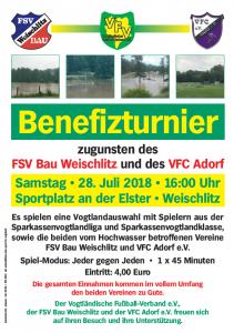 Samstag Benefizturnier in Weischlitz!