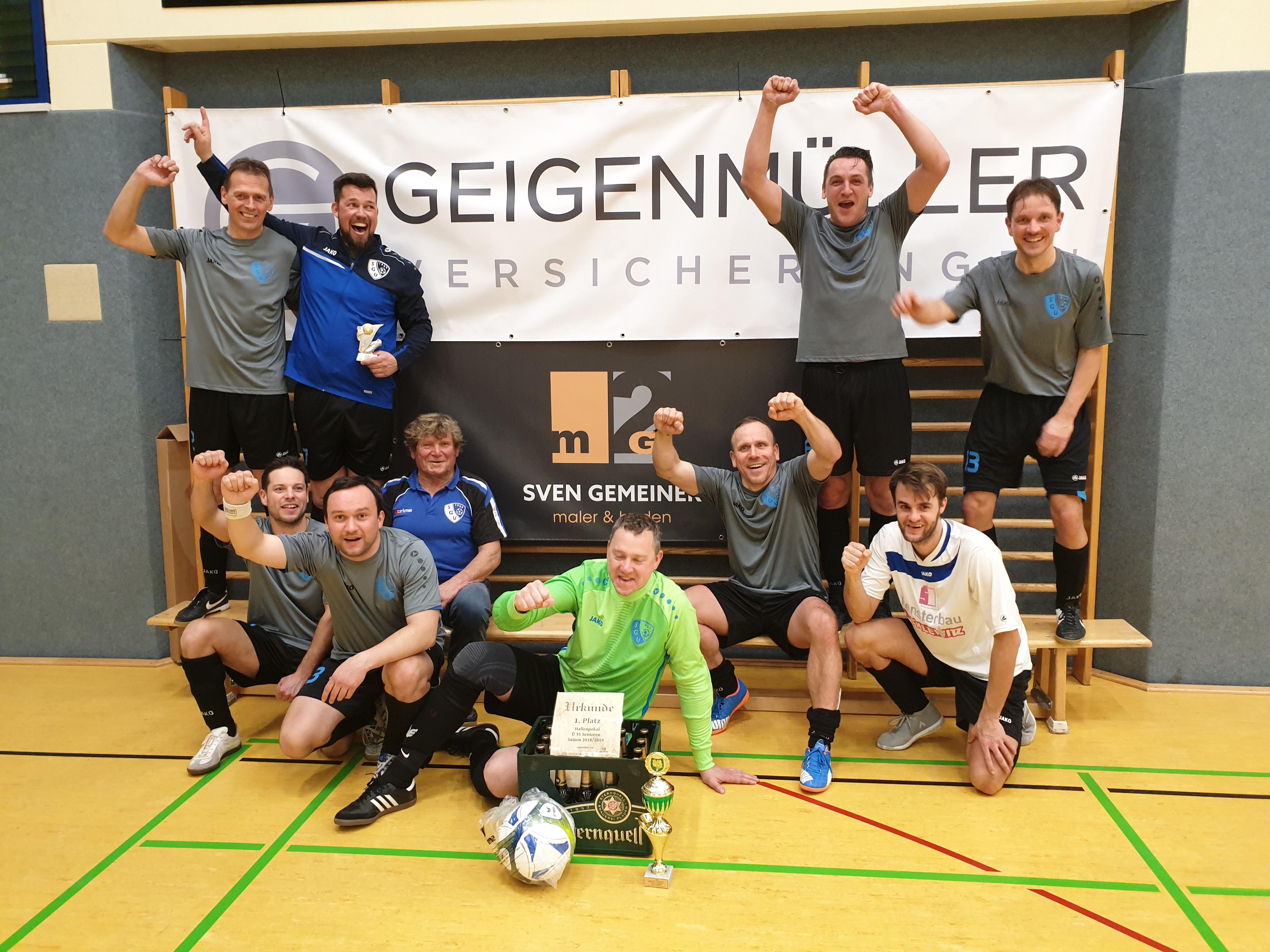 Hallenpokal Senioren Ü 35:  Entscheidung über Titel fällt wegen einem Tor
