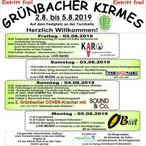 Grünbacher Kirmes steht an!