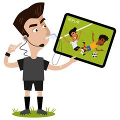 Auch ohne Spielleitungen müssen sich die Schiedsrichter beweisen