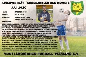 Ehrenamtler des Monats Juli:  Marcus Mosch, VFC Plauen