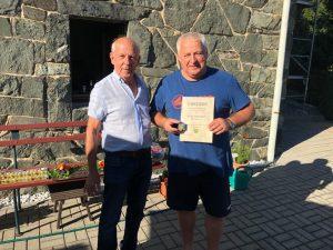 Peter Zimmermann erhält die Ehrennadel in Gold des VFV
