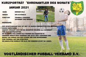 Read more about the article Ehrenamtler des Monats Januar 2021: Werner Wilk VfB Schöneck