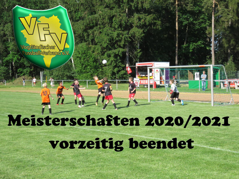 Vogtland: Vorstand beschließt einstimmig die Beendigung der Saison 2020/2021