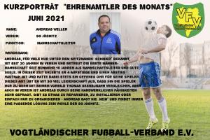 Read more about the article Ehrenamtler des Monats Juni: Andreas Weller, SG Jößnitz vor Ort geehrt
